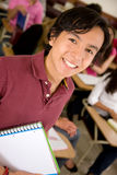 Student with notebooks Stock Photography