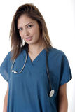 Student nurse on white Royalty Free Stock Image