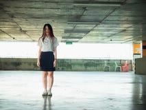 Student- och gradutationbegrepp från asiatisk härlig flicka20-tal t arkivbild