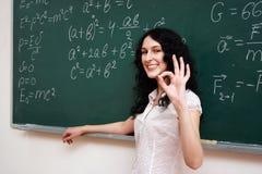 Student with okay Stock Image