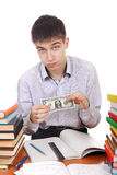 Student with One Dollar Stock Image