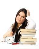 Student onwillige ot do homework Stock Foto