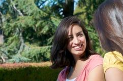 Student op campus royalty-vrije stock afbeeldingen