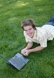 Student op Computer Royalty-vrije Stock Foto's