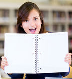 Student with an open book Royalty Free Stock Photography