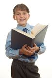 Student with open book royalty free stock photos