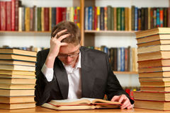 Student with open book Royalty Free Stock Image