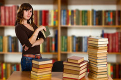 Student with open book Royalty Free Stock Photo