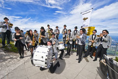 Student Orchestra in the Austrian Alps Royalty Free Stock Photos