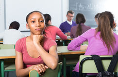 Student outcast in the class Royalty Free Stock Photos