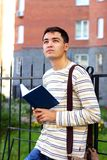Student outdoors Royalty Free Stock Photos