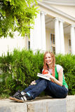 Student outdoors Stock Photography