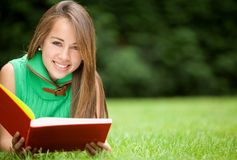 Student outdoors Royalty Free Stock Image