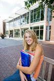 Student Outside of School Royalty Free Stock Photography