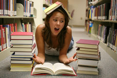 Student Overwhelmed Royalty Free Stock Photo