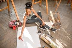 Student painting still life stock photos