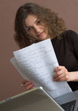 Student with papers Royalty Free Stock Photography