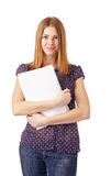 Student with Papers. Stock Image