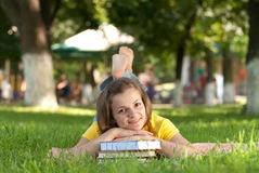 Student in park royalty free stock image