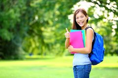 Student in park Royalty Free Stock Images