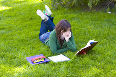 Student in the park Royalty Free Stock Images