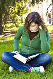Student in the park Royalty Free Stock Image
