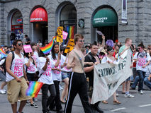 Student Participants at Pride Parade in Toronto Stock Image