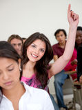 Student participating Stock Photography
