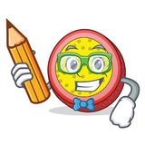 Student passion fruit character cartoon. Vector illustration Royalty Free Stock Image