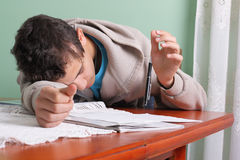 Student and pencil Stock Image