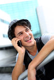 Student on the phone Royalty Free Stock Photos