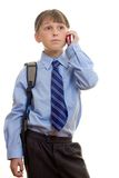 Student with Phone to Ear Royalty Free Stock Photos