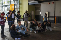 Student Photographers. On a assigment at the overseas terminal Sydney Stock Images