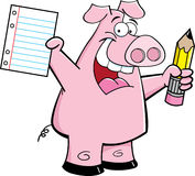Student Pig Royalty Free Stock Photo