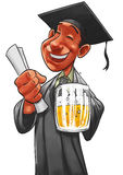Student and the pint Royalty Free Stock Photography
