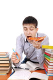 Student with Pizza Stock Images