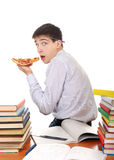 Student with Pizza Stock Photos