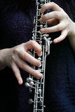 Student playing at clarinet Royalty Free Stock Images