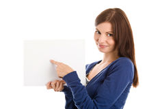 Student Pointing At Sheet Stock Photo
