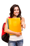 Student pointing front Royalty Free Stock Image