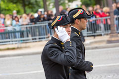 Student of Polytechnic Engineering school (Ecole polytechnique) during Military parade (Defile) in Stock Images