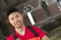 Student portrait. A close up shot of a male student on campus Stock Photos