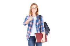 Student posing with textbook Stock Photos