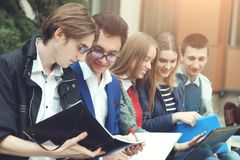 Student prepare for classes Stock Images