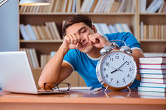 The student preparing for college exams. Student preparing for college exams Royalty Free Stock Photography