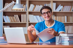 The student preparing for college exams Stock Images