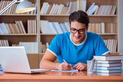 The student preparing for college exams Stock Photo