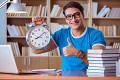 The student preparing for college exams Stock Image