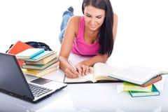 Student preparing exam Stock Photography