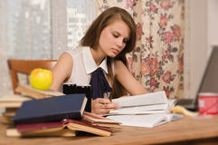 Student preparing for an exam Royalty Free Stock Photo